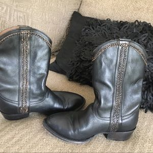 Black boots with phone/cash/credit card holders